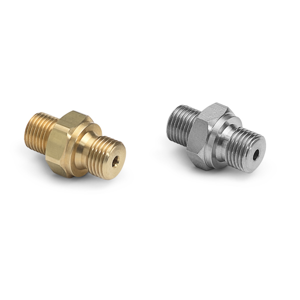 Bspp male rs quick test adapters ralston instruments
