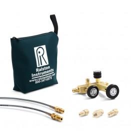 QTCM with gauge connection, hoses, bag